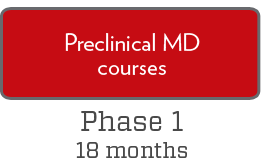 Phase 1: Preclinical MD courses