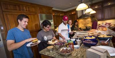 A dinner party hosted by the Native American Center for Health Professions