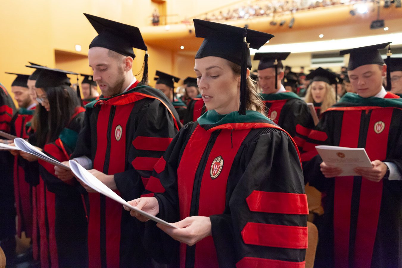 Medical students reciting the Declaration of Geneva