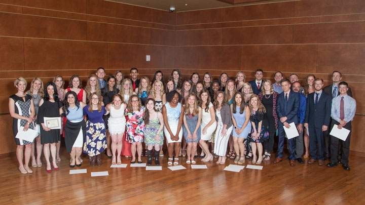Group photo of physician assistant students