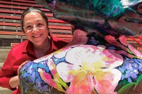 Diane Heatley and Blooming Bucky