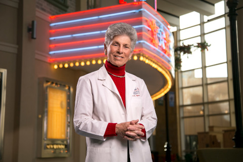 Ellen Wald, MD, in the main lobby of the American Family Children's Hospital.