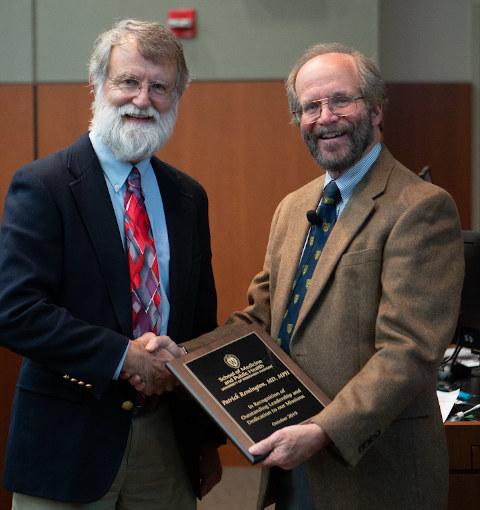 Pat Remington receives an award